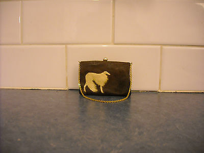 Vintage Borzoi Russian Wolfhound Afghan Miniature Purse Dog Collectible Figurine