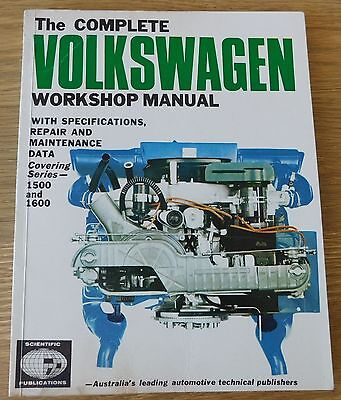 Workshop Manual Volkswagen 1500 N S A + 1600 VW Specs/Repair/Maintenance 1968