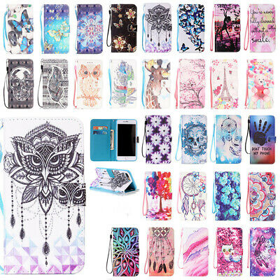 Strap Magnetic Flip Leather Wallet Card Case Stand Cover For iPhone 6s 7 8 Plus