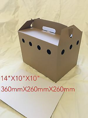 50x Cardboard Pet / Poultry Carriers, Chicken Box Reusable / Disposable Floor