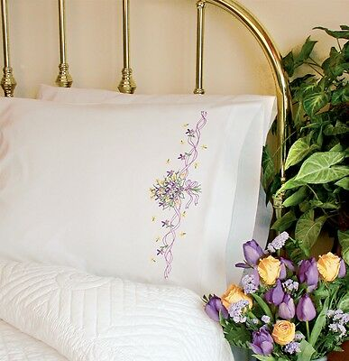 Dimensions Needlecrafts Violets Nosegay 73200 Embroidery Pillow Cases Stitch Kit