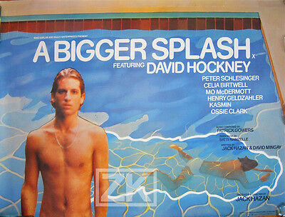 A BIGGER SPLASH HOCKNEY Peinture Affiche Gay Piscine 74
