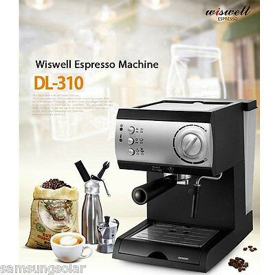 [Wiswell] Electric SemiAutomatic Espresso Machine Coffee Maker Latte Cappuccino