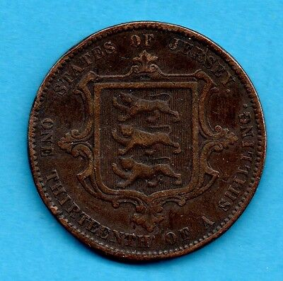 States Of Jersey 13 Of A Shilling 1866