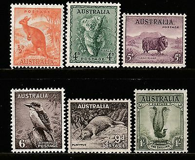 1937-56 ZOOLOGICAL SERIES WITH C of A WATERMARK PRE-DECIMAL STAMP SET- FRESH MUH