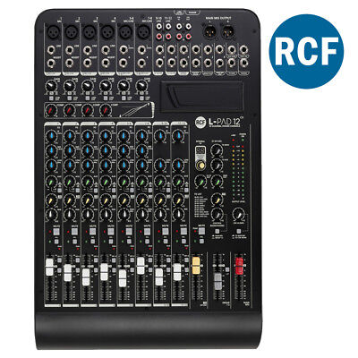 RCF L-PAD 12CX 12 Channel Mixer Desk On-Board DSP Effects Live Stage Studio