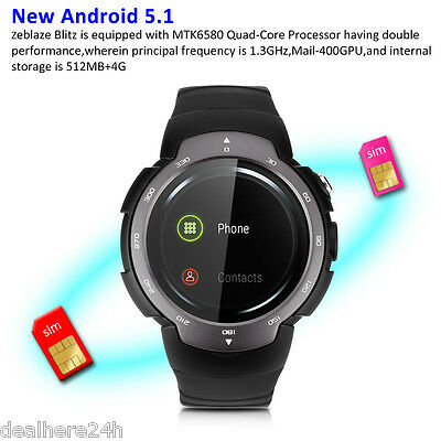 Android5.1 Intelligente Cellulare Orologio Polso Sport Bluetooth Smart Watch GSM