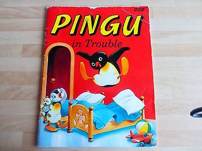 Childrens book, 'Pingu in Trouble', Tatty cover, good inside.