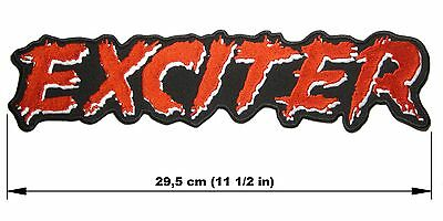 EXCITER logo BACK PATCH embroidered NEW speed metal