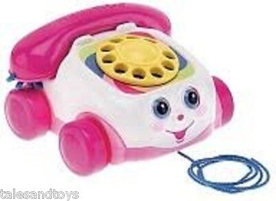 PREOWNED Fisher Price PINK CHATTER TELEPHONE PULL TOY