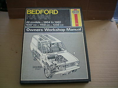 Haynes Manual For Bedford H A Van All Models From 64 To 83