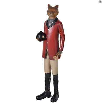 Standing Fox 'Tally Ho' Fox riding hunting ornament horse lover bugle and hat