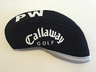 New 10 x Callaway Iron Covers Golf Club Headcovers All Black Ltd Edition Stock
