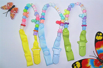 Kids Baby Boys Girls Dummy Pacifier Soother Nipple Leash Clip Chain Strap Holder