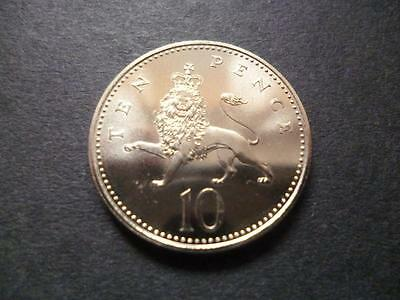1995 Brilliant Uncirculated Ten Pence Piece. 1995 10P Coin Uncirculated.