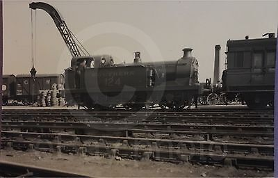 Canterbury & Whitstable Railway Loco 124 At Canterbury West Real Photo. Old Rare