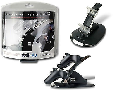 Charge Station Dock Di Ricarica 4 Controller Sony Playstation 3 Ps3 Pelican Nuov