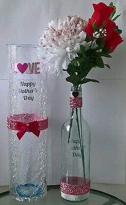 Two Piece Glass Set Vases