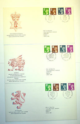 GB Regional Definitive First Day Cover Set of 3 - 1991 Multiple Values