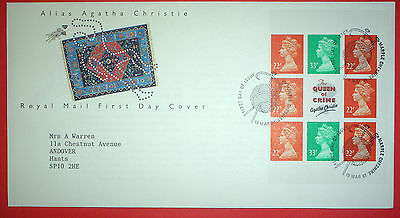 GB Definitive First Day Cover - 1991 Multiple Values on Agatha Christie Cover