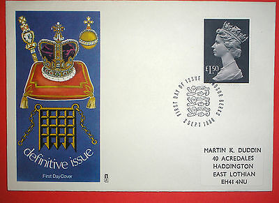 GB Definitive First Day Cover - 1986 Higher Value