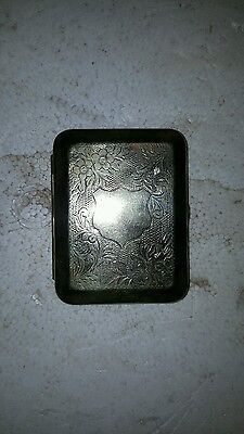 old silver plated ciggerette case