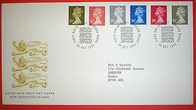 GB Regional Definitive illustrated First Day Cover- 1993 Multiple Values