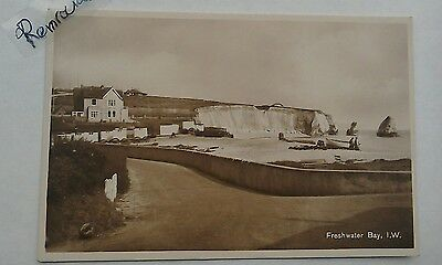 Freshwater Bay Isle of Wight rare postcard unposted