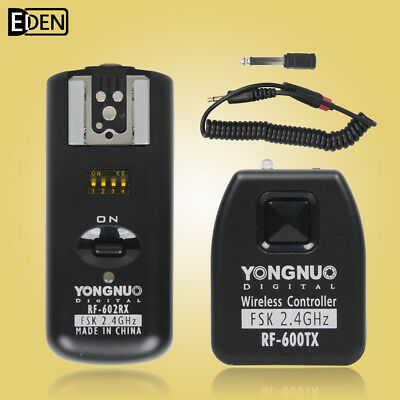 Yongnuo RF602 RF-602 2.4GHz Wireless Remote Flash Trigger 1 Receivers for Canon