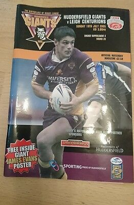 Rugby League programme:- Huddersfield v Leigh 10/7/2005 inc Ticket/pics/report
