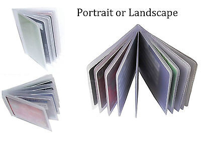 Replacement Credit Card Sleeve Inserts Portrait / Landscape All Sizes- 6, 12, 20