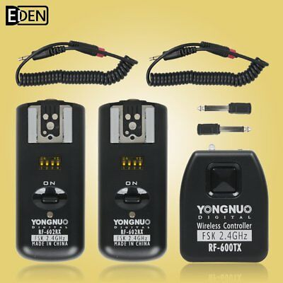 YONGNUO RF-602 2.4GHz Wireless Remote Flash Trigger + 2 * Receiver for Nikon