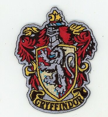 Harry Potter House of Gryffindor Crest Patch Iron On Parche Termoadhesivo