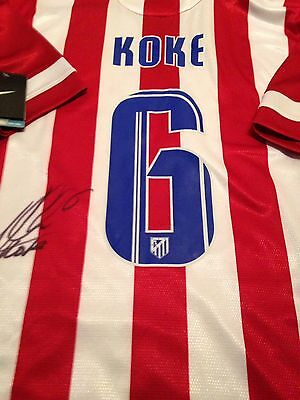 Koke Signed Atletico Madrid Home Shirt