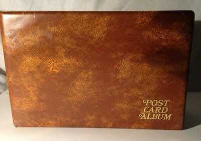 POST CARD ALBUM.  CONTAINS approx 85 cards from UK