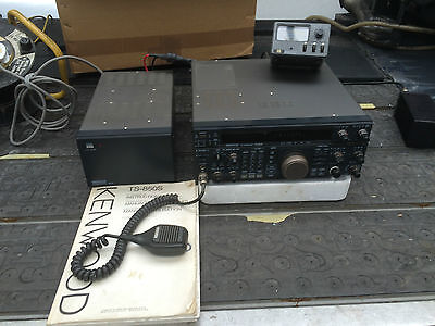 Kenwood TS850S All Modes Transceiver with Matched Power Supply and manual