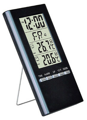 Weather Station Dual Thermometer / Alarm Clock NEW COZ-014-/CA