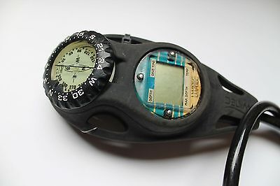 Second Hand UWATEC Depth & Dive Timer, SPG Gauge, Compass Console