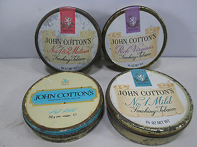 4 Vintage John Cotton's Tobacco Tins- All Different #3