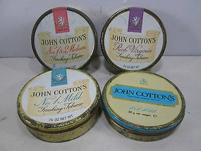4 Vintage John Cotton's Tobacco Tins- All Different #4