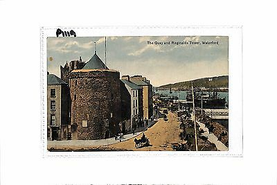 Ireland Waterford The Quay and Reginalds Tower 1919 Valentine's Series Postcard