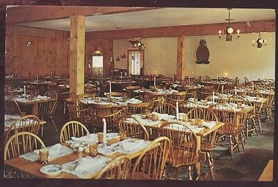 Yankee Drummer Inn Motor House Auburn Massachusetts Interior Restaurant Postcard
