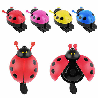 Lovely Kid Beetle Ladybug Ring Bell For Cycling Bicycle Bike Ride Horn Alarm CZ