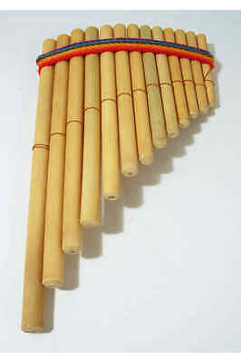 13 Note Panpipes from Peru, Bamboo (Curved shape)