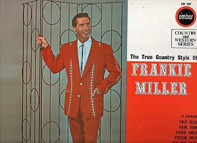 LP Frankie Miller TRUE COUNTRY STYLE / Starday cuts on UK Ember