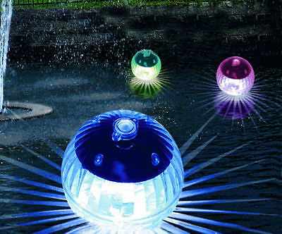 LED Solar Globe light 4er Set - Floating ball Round light Pond luminaire