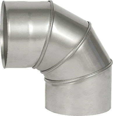 "Stainless Steel Adjustable Elbow 0-90 Degree Chimney 4"" 5"" 6"" 7"" 8"""