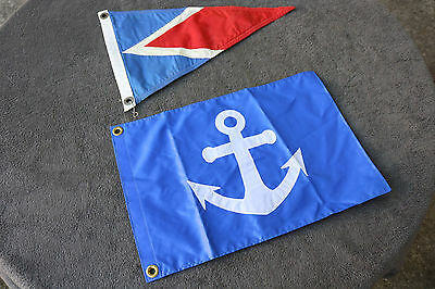 Maritime Flag Lot of 2 Marine Boat Flags Nautical Pennants