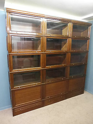 Large Set Of Antique Mahogany Sectional Lawyers Bookcases