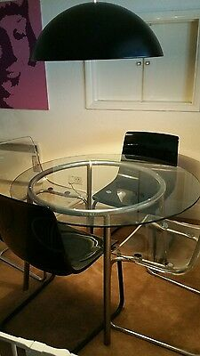 glass dining table and 5 chairs